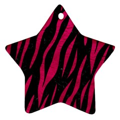 Skin3 Black Marble & Pink Leather (r) Star Ornament (two Sides)