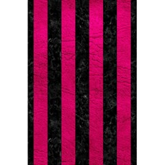 Stripes1 Black Marble & Pink Leather 5 5  X 8 5  Notebooks