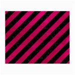 STRIPES3 BLACK MARBLE & PINK LEATHER (R) Small Glasses Cloth (2-Side) Front