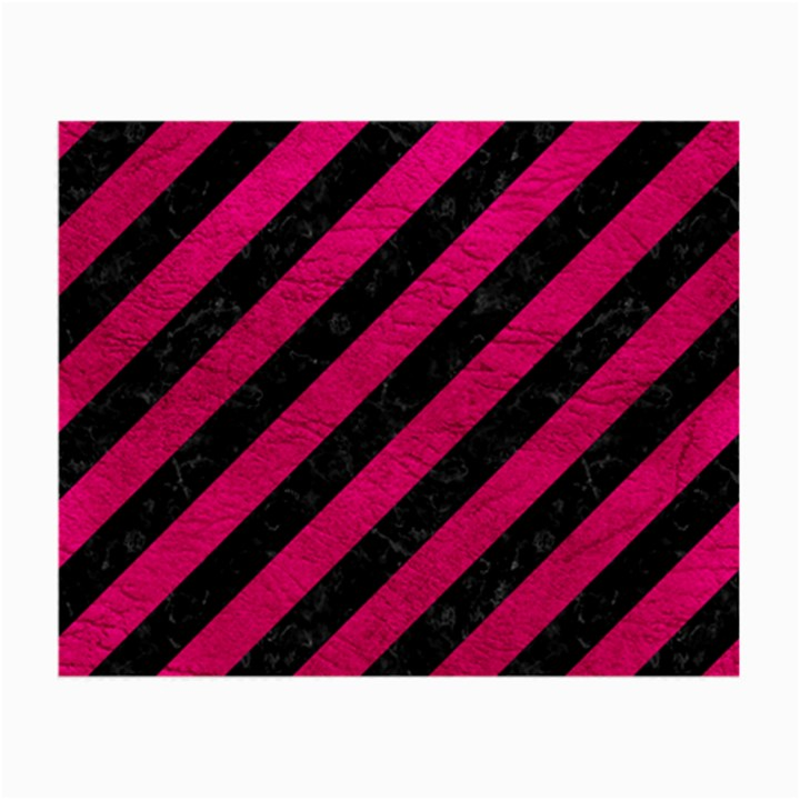 STRIPES3 BLACK MARBLE & PINK LEATHER (R) Small Glasses Cloth (2-Side)