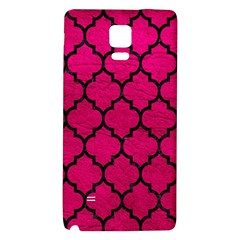 Tile1 Black Marble & Pink Leather Galaxy Note 4 Back Case