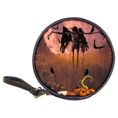 Halloween Design With Scarecrow, Crow And Pumpkin Classic 20 Cd Wallets