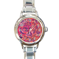 Abstract Nature 22 Round Italian Charm Watch