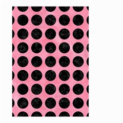Circles1 Black Marble & Pink Watercolor Small Garden Flag (two Sides)