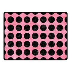 Circles1 Black Marble & Pink Watercolor Double Sided Fleece Blanket (small)