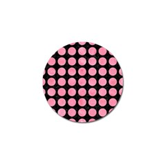 Circles1 Black Marble & Pink Watercolor (r) Golf Ball Marker (4 Pack)