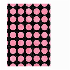 Circles1 Black Marble & Pink Watercolor (r) Small Garden Flag (two Sides)