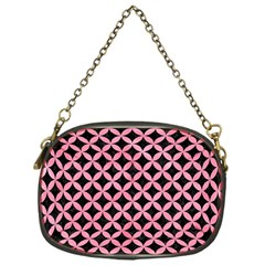 Circles3 Black Marble & Pink Watercolor (r) Chain Purses (one Side)
