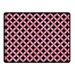 Circles3 Black Marble & Pink Watercolor (r) Double Sided Fleece Blanket (small)