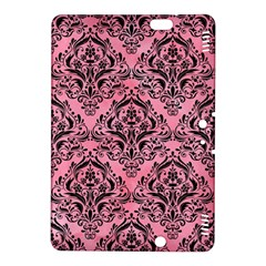 Damask1 Black Marble & Pink Watercolor Kindle Fire Hdx 8 9  Hardshell Case