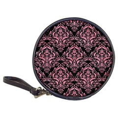 Damask1 Black Marble & Pink Watercolor (r) Classic 20 Cd Wallets
