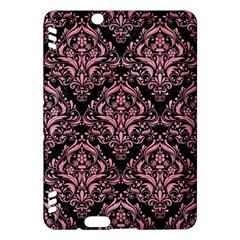 Damask1 Black Marble & Pink Watercolor (r) Kindle Fire Hdx Hardshell Case