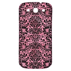 Damask2 Black Marble & Pink Watercolor Samsung Galaxy S3 S Iii Classic Hardshell Back Case