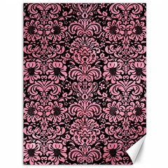 Damask2 Black Marble & Pink Watercolor (r) Canvas 36  X 48