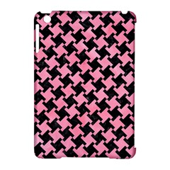 Houndstooth2 Black Marble & Pink Watercolor Apple Ipad Mini Hardshell Case (compatible With Smart Cover)