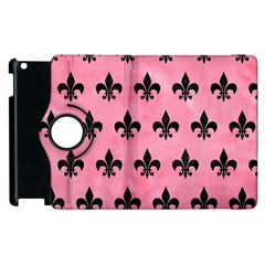 Royal1 Black Marble & Pink Watercolor (r) Apple Ipad 2 Flip 360 Case