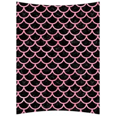Scales1 Black Marble & Pink Watercolor (r) Back Support Cushion