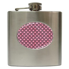Scales2 Black Marble & Pink Watercolor Hip Flask (6 Oz)