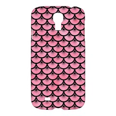 Scales3 Black Marble & Pink Watercolor Samsung Galaxy S4 I9500/i9505 Hardshell Case