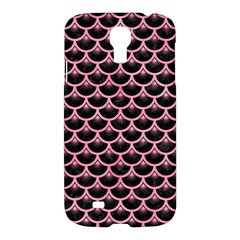 Scales3 Black Marble & Pink Watercolor (r) Samsung Galaxy S4 I9500/i9505 Hardshell Case