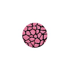 Skin1 Black Marble & Pink Watercolor (r) 1  Mini Magnets
