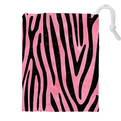 Skin4 Black Marble & Pink Watercolor (r) Drawstring Pouches (xxl)