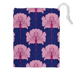 Beautiful Art Nouvea Floral Pattern Drawstring Pouches (xxl)