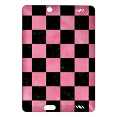 Square1 Black Marble & Pink Watercolor Amazon Kindle Fire Hd (2013) Hardshell Case