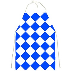 Blue White Diamonds Seamless Full Print Aprons