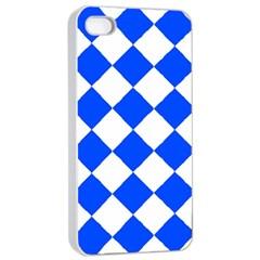 Blue White Diamonds Seamless Apple Iphone 4/4s Seamless Case (white)