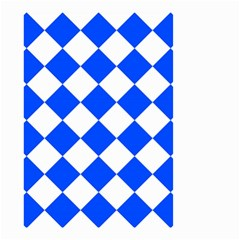 Blue White Diamonds Seamless Small Garden Flag (two Sides)