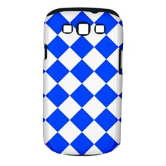 Blue White Diamonds Seamless Samsung Galaxy S Iii Classic Hardshell Case (pc+silicone)