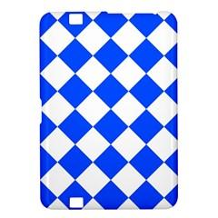 Blue White Diamonds Seamless Kindle Fire Hd 8 9