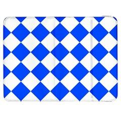 Blue White Diamonds Seamless Samsung Galaxy Tab 7  P1000 Flip Case