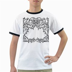 Bouquet Flower Decoration Pattern Ringer T Shirts