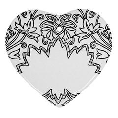 Bouquet Flower Decoration Pattern Heart Ornament (two Sides)