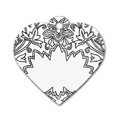 Bouquet Flower Decoration Pattern Dog Tag Heart (one Side)