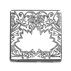 Bouquet Flower Decoration Pattern Memory Card Reader (square)