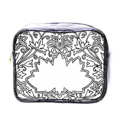 Bouquet Flower Decoration Pattern Mini Toiletries Bags