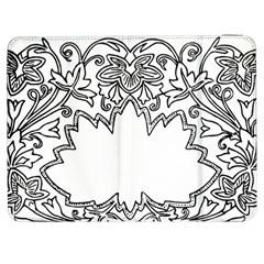 Bouquet Flower Decoration Pattern Samsung Galaxy Tab 7  P1000 Flip Case