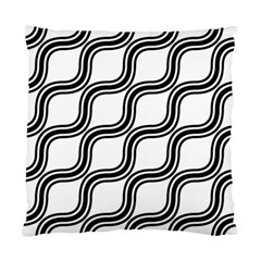 Diagonal Pattern Background Black And White Standard Cushion Case (two Sides)