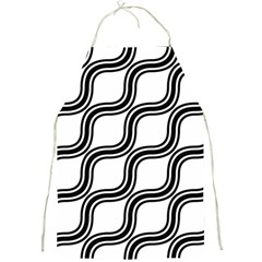 Diagonal Pattern Background Black And White Full Print Aprons