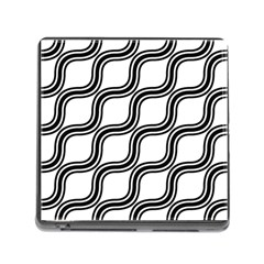 Diagonal Pattern Background Black And White Memory Card Reader (square)