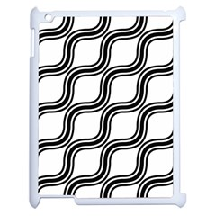 Diagonal Pattern Background Black And White Apple Ipad 2 Case (white)