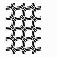 Diagonal Pattern Background Black And White Small Garden Flag (two Sides)