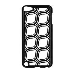 Diagonal Pattern Background Black And White Apple Ipod Touch 5 Case (black)