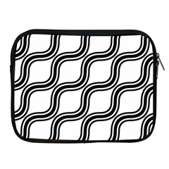 Diagonal Pattern Background Black And White Apple Ipad 2/3/4 Zipper Cases
