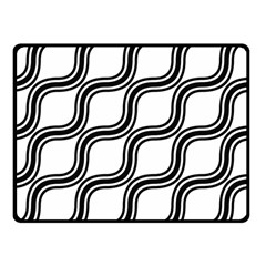 Diagonal Pattern Background Black And White Double Sided Fleece Blanket (small)