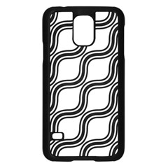 Diagonal Pattern Background Black And White Samsung Galaxy S5 Case (black)