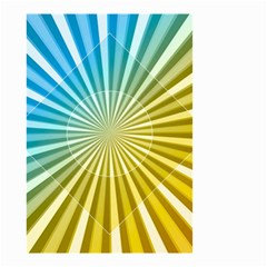 Abstract Art Art Radiation Small Garden Flag (two Sides)